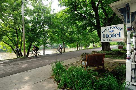 town_biking